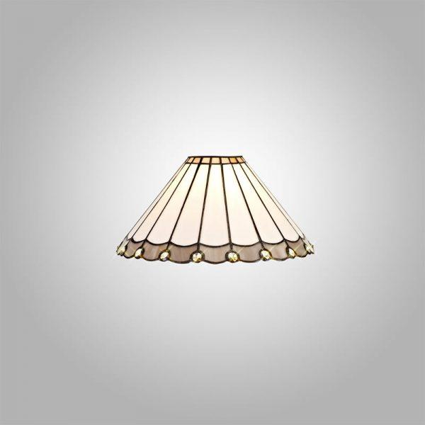 Lichfield Lighting St John Tiffany 30cm Non-Electric Shade, Grey/Credlock/Crystal photo 3