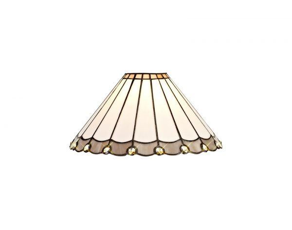 Lichfield Lighting St John Tiffany 30cm Non-Electric Shade, Grey/Credlock/Crystal photo 1