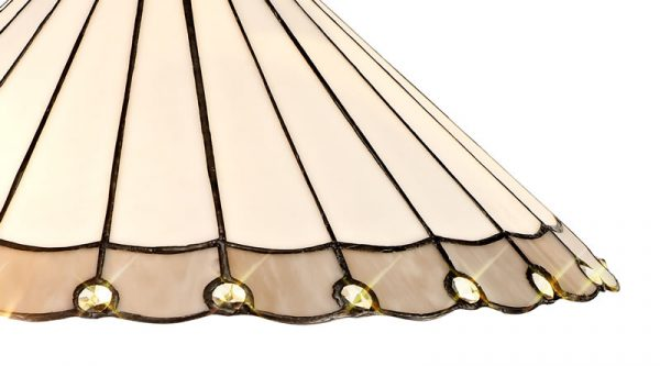 Lichfield Lighting St John Tiffany 40cm Shade Only Suitable For Pendant/Ceiling/Table Lamp, Grey/Credlock/Crystal photo 2