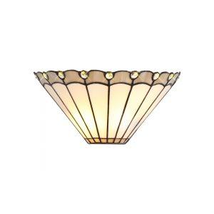 Lichfield Lighting St John Tiffany Wall Lamp, 2 x E14, Grey/Credlock/Crystal photo 1