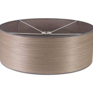 Lichfield Lighting Verdi Round, 600 x 210mm Wood Effect Shade, Grey Oak/White Laminate photo 1