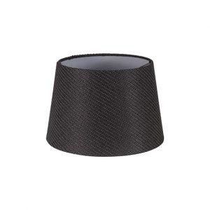 Lichfield Lighting Verdi Round, 240/300 x 200mm Fabric Shade, Charcoal Grey/White Laminate photo 1