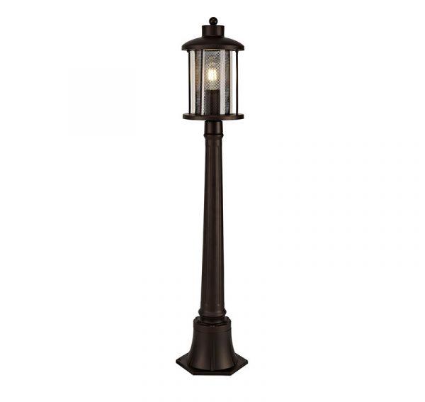 Lichfield Lighting Austin Single Headed Post Lamp, 1 x E27, Antique Bronze/Clear Glass, IP54, 2yrs Warranty photo 1