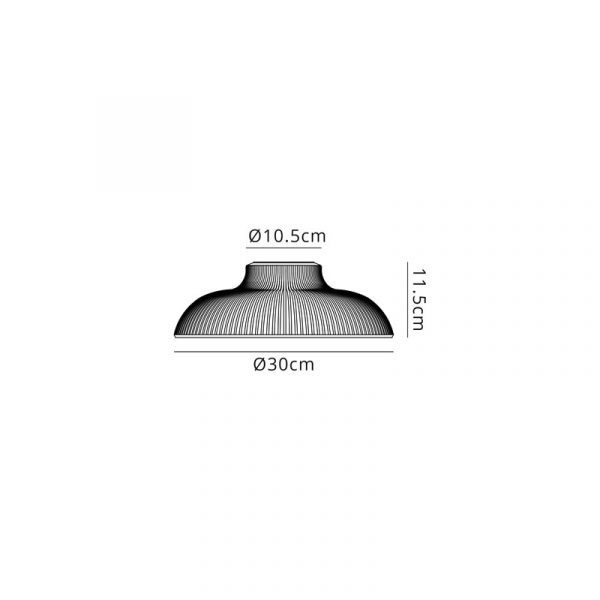 Lichfield Lighting Lime Round 30cm Clear Glass Lampshade Dimensions
