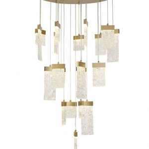 Lichfield Lighting Bardell Pendant Round 5M, 21 x 4.5W LED, 3000K, 3360lm, Painted Brushed Gold, 3yrs Warranty photo 1