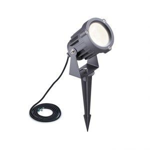 Lichfield Lighting Caterbanck Spike/Wall Light, 1 x 15W LED, 3000K, 1050lm, 30 Degree, IP65, Grey/Black, c/w 2m Cable, 3yrs Warranty photo 1
