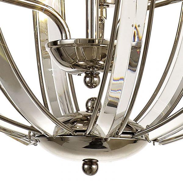 Lichfield Lighting Chadswell Medium Round Pendant, 3 Light E27, Polished Nickel photo 2