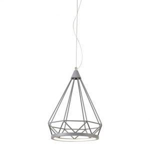 Lichfield Lighting Elawfords Small Diamond Pendant, 1 x 8W LED, 3700K, Matt Grey, 3yrs Warranty photo 1