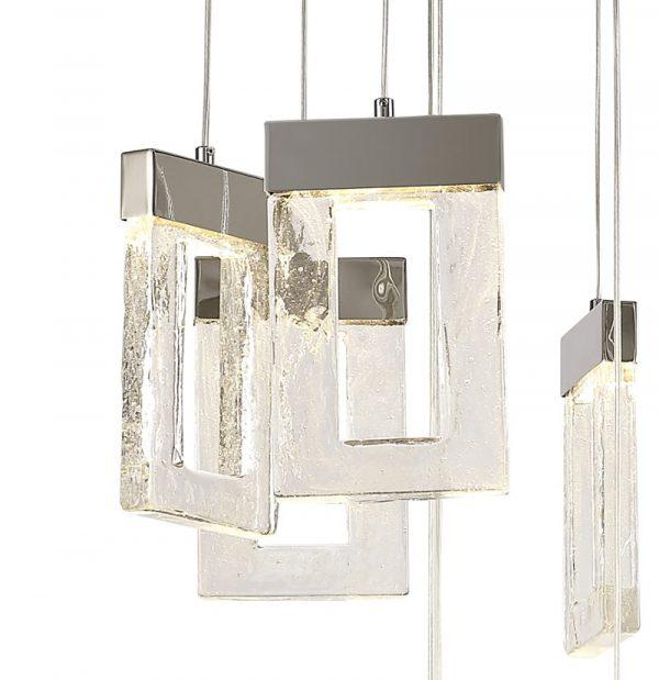 Lichfield Lighting Ellsmore Pendant 5M, 21 x 4.5W LED, 3000K, 3360lm, Polished Chrome, 3yrs Warranty photo 5