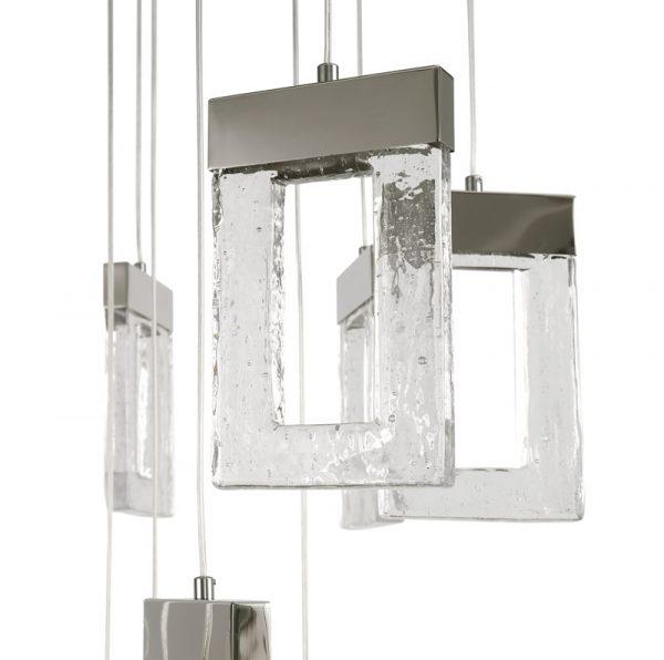 Lichfield Lighting Ellsmore Pendant 5M, 21 x 4.5W LED, 3000K, 3360lm, Polished Chrome, 3yrs Warranty photo 3