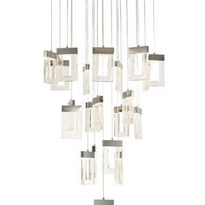 Lichfield Lighting Ellsmore Pendant 5M, 21 x 4.5W LED, 3000K, 3360lm, Polished Chrome, 3yrs Warranty photo 1