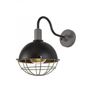 Lichfield Lighting Gaialands Wall Lamp, 1 Light E27, IP65, Matt Black/Grey, 2yrs Warranty photo 1
