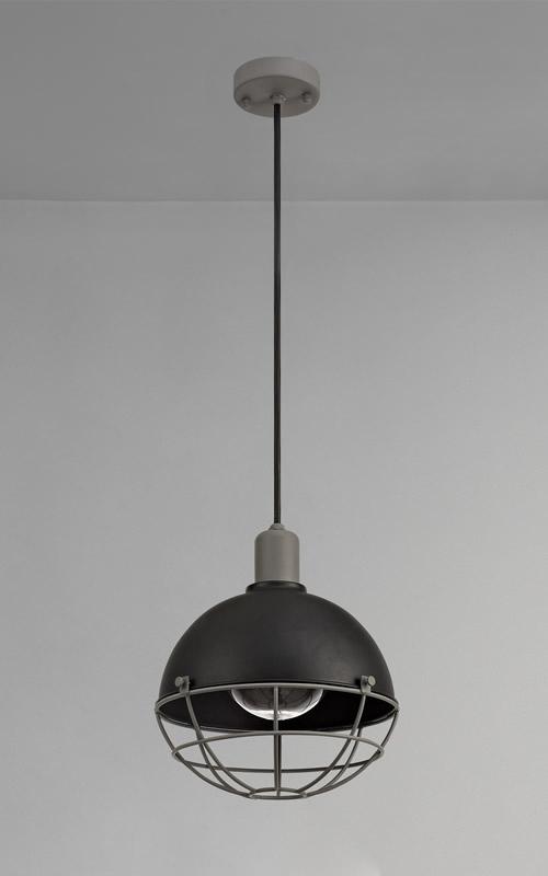 Lichfield Lighting Gaialands Pendant, 1 Light E27, IP65, Matt Black/Grey, 2yrs Warranty photo 3