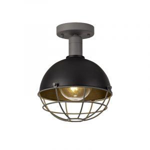 Lichfield Lighting Gaialands Ceiling, 1 Light E27, IP65, Matt Black/Grey, 2yrs Warranty photo 1