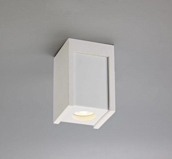 Lichfield Lighting Irving 1 Light Square Ceiling GU10, White Paintable Gypsum With Matt White Cover photo 3