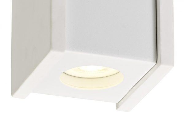 Lichfield Lighting Irving 1 Light Square Ceiling GU10, White Paintable Gypsum With Matt White Cover photo 2