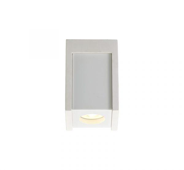 Lichfield Lighting Irving 1 Light Square Ceiling GU10, White Paintable Gypsum With Matt White Cover photo 1