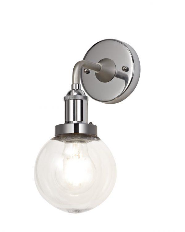 Lichfield Lighting Jordon Wall Lamp 1 Light E27 IP65 Exterior Lichfield Lighting Titanium Silver/Polished Chrome photo 1