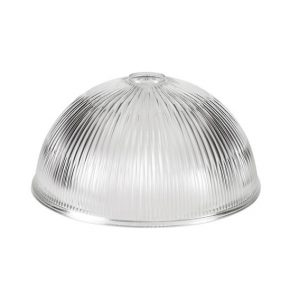 Lichfield Lighting Lime Dome 30cm Clear Glass Lampshade photo 1