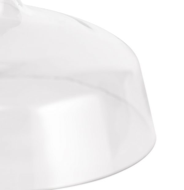 Lichfield Lighting Lime Flat Round 38cm Clear Glass Lampshade photo 2