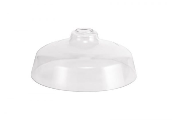 Lichfield Lighting Lime Flat Round 38cm Clear Glass Lampshade photo 1