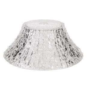 Lichfield Lighting Lime Round 38cm Patterned Clear Glass Lampshade photo 1