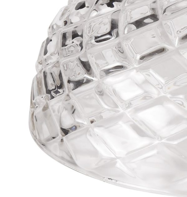 Lichfield Lighting Lime Flat Round 30cm Patterned Clear Glass Lampshade photo 2