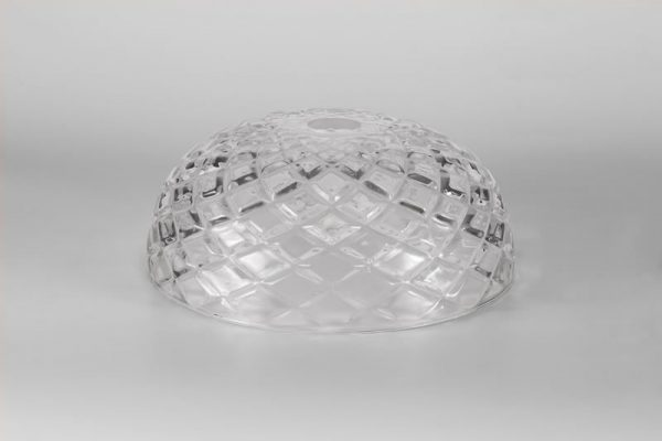 Lichfield Lighting Lime Flat Round 30cm Patterned Clear Glass Lampshade photo 4