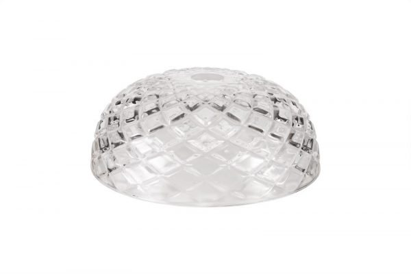 Lichfield Lighting Lime Flat Round 30cm Patterned Clear Glass Lampshade photo 1