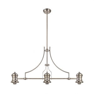 Lichfield Lighting Lime Frame Only Linear Pendant, 3 x E27, Polished Nickel photo 1