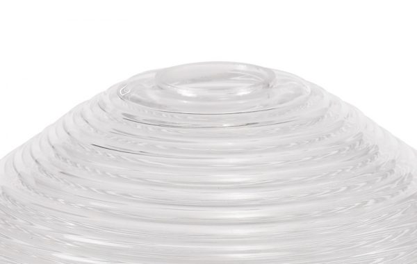 Lichfield Lighting Lime Round 33.5cm Prismatic Effect Clear Glass Lampshade photto 3