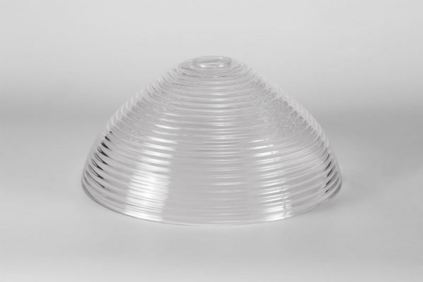 Lichfield Lighting Lime Round 33.5cm Prismatic Effect Clear Glass Lampshade photto 4