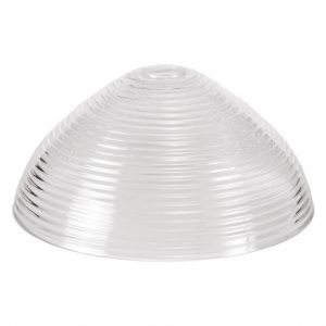 Lichfield Lighting Lime Round 33.5cm Prismatic Effect Clear Glass Lampshade photto 1
