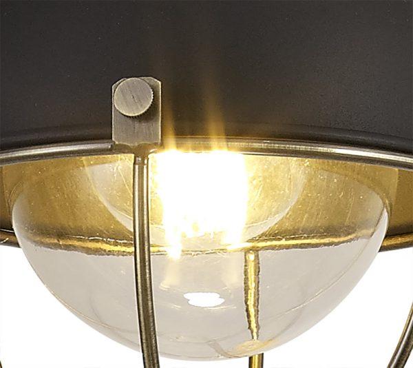 Lichfield Lighting Lomax Pendant, 1 Light E27, IP65, Matt Black/Brushed Bronze, 2yrs Warranty photo 2
