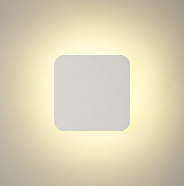 Lichfield Lighting Maxwell Magnetic Base Wall Lamp, 12W LED 3000K 498lm, 15cm Square, Sand White photo 2