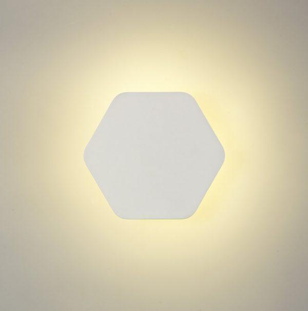 Lichfield Lighting Maxwell Magnetic Base Wall Lamp, 12W LED 3000K 498lm, 15cm Horizontal Hexagonal, Sand White photo 2
