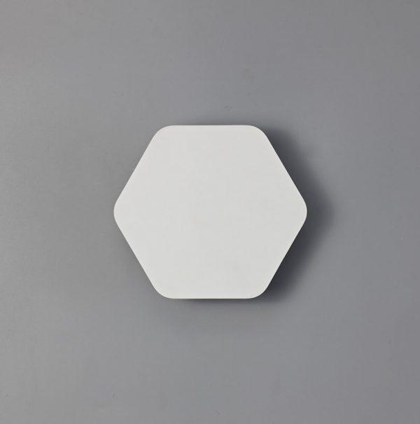 Lichfield Lighting Maxwell Magnetic Base Wall Lamp, 12W LED 3000K 498lm, 15cm Horizontal Hexagonal, Sand White photo 3