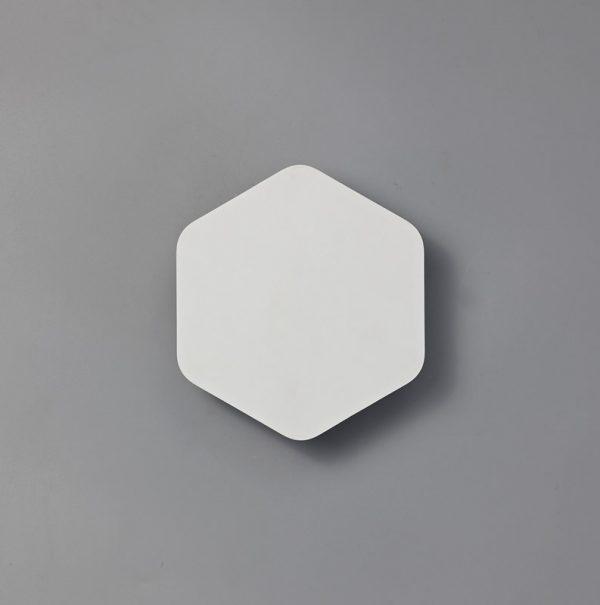 Lichfield Lighting Maxwell Magnetic Base Wall Lamp, 12W LED 3000K 498lm, 15cm Vertical Hexagonal, Sand White photo 2