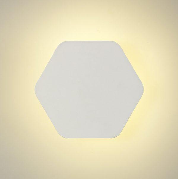 Lichfield Lighting Maxwell Magnetic Base Wall Lamp, 12W LED 3000K 498lm, 20cm Horizontal Hexagonal, Sand White photo 2