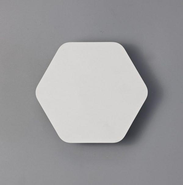 Lichfield Lighting Maxwell Magnetic Base Wall Lamp, 12W LED 3000K 498lm, 20cm Horizontal Hexagonal, Sand White photo 3