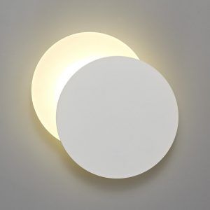 Lichfield Lighting Maxwell Magnetic Base Wall Lamp, 12W LED 3000K 498lm, 20/19cm Round Right Offset, Sand White/Acrylic Frosted Diffuser photo 1