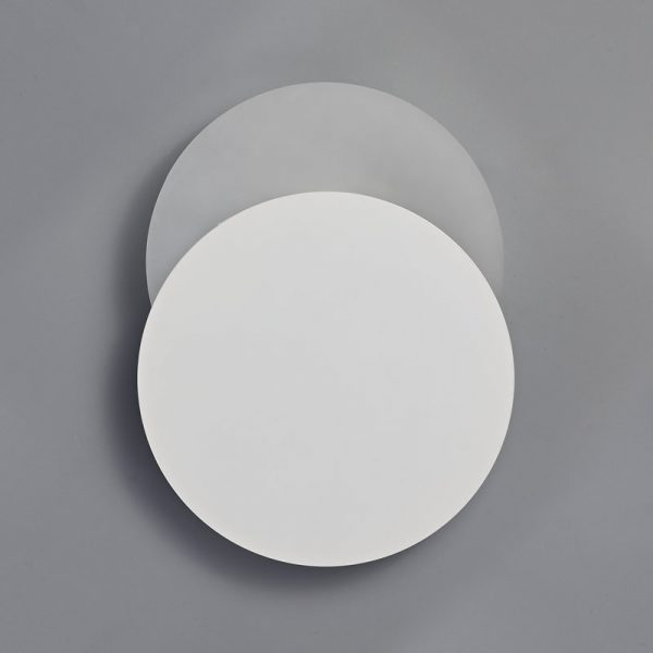 Lichfield Lighting Maxwell Magnetic Base Wall Lamp, 12W LED 3000K 498lm, 20/19cm Round Bottom Offset, Sand White/Acrylic Frosted Diffuser photo 2