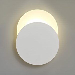 Lichfield Lighting Maxwell Magnetic Base Wall Lamp, 12W LED 3000K 498lm, 20/19cm Round Bottom Offset, Sand White/Acrylic Frosted Diffuser photo 1