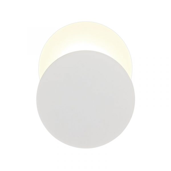Lichfield Lighting Maxwell Magnetic Base Wall Lamp, 12W LED 3000K 498lm, 20/19cm Round Bottom Offset, Sand White/Acrylic Frosted Diffuser photo 3
