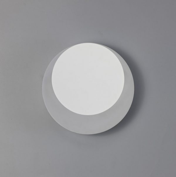 Lichfield Lighting Maxwell Magnetic Base Wall Lamp, 12W LED 3000K 498lm, 15/19cm Round Top Offset, Sand White/Acrylic Frosted Diffuser photo 2