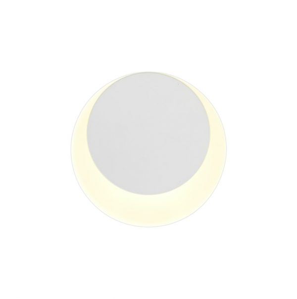Lichfield Lighting Maxwell Magnetic Base Wall Lamp, 12W LED 3000K 498lm, 15/19cm Round Top Offset, Sand White/Acrylic Frosted Diffuser photo 3