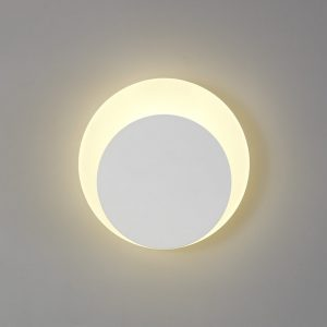 Lichfield Lighting Maxwell Magnetic Base Wall Lamp, 12W LED 3000K 498lm, 15/19cm Round Bottom Offset, Sand White/Acrylic Frosted Diffuser photo 1