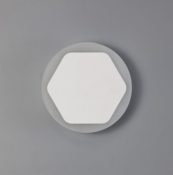 Lichfield Lighting Maxwell Magnetic Base Wall Lamp, 12W LED 3000K 498lm, 15/19cm Horizontal Hexagonal Centre, Sand White/Round Acrylic Frosted Diffuser photo 2