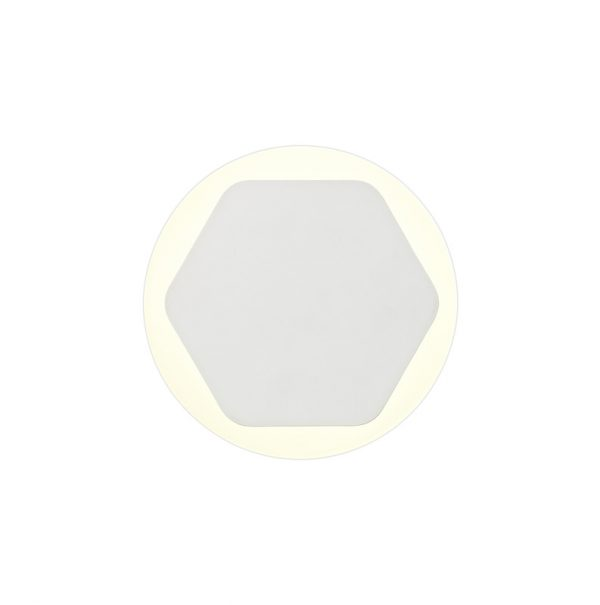 Lichfield Lighting Maxwell Magnetic Base Wall Lamp, 12W LED 3000K 498lm, 15/19cm Horizontal Hexagonal Centre, Sand White/Round Acrylic Frosted Diffuser photo 3