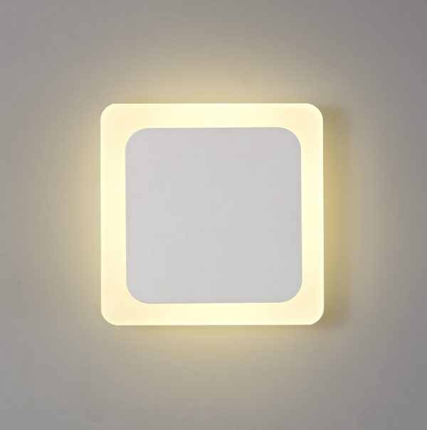 Lichfield Lighting Maxwell Magnetic Base Wall Lamp, 12W LED 3000K 498lm, 15/19cm Square Centre, Sand White/Acrylic Frosted Diffuser photo 1